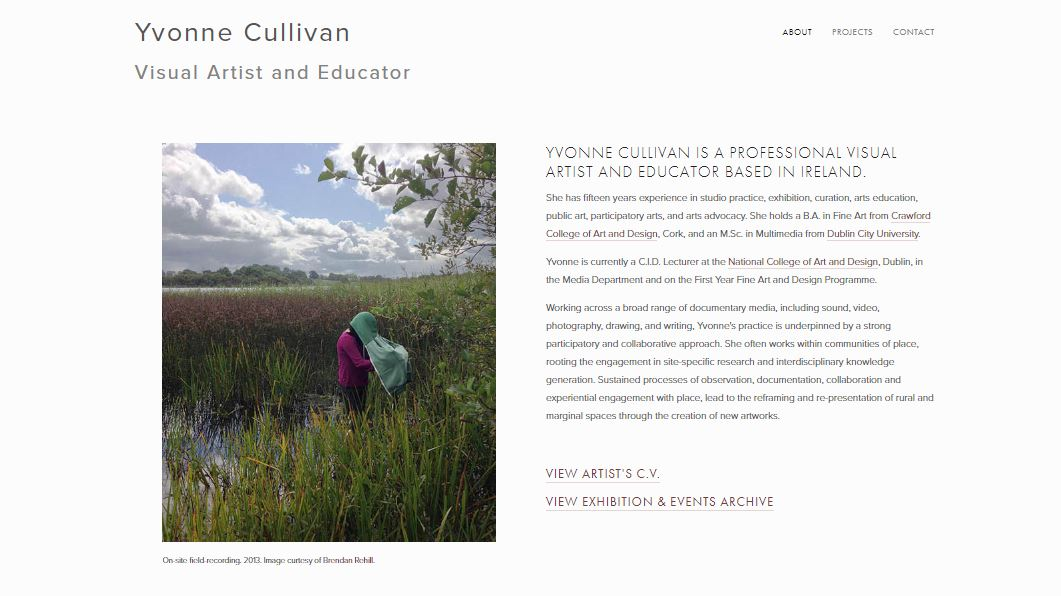 Yvonne Cullivan's Website