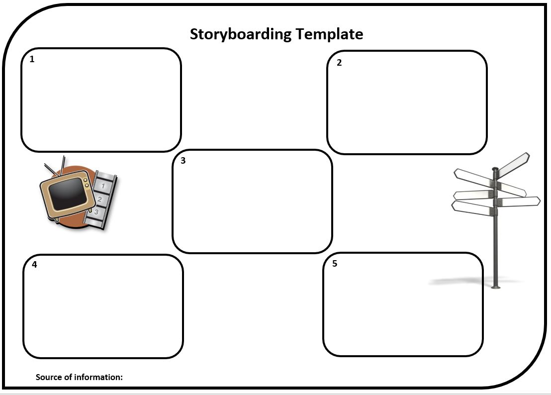 Editable storyboard template