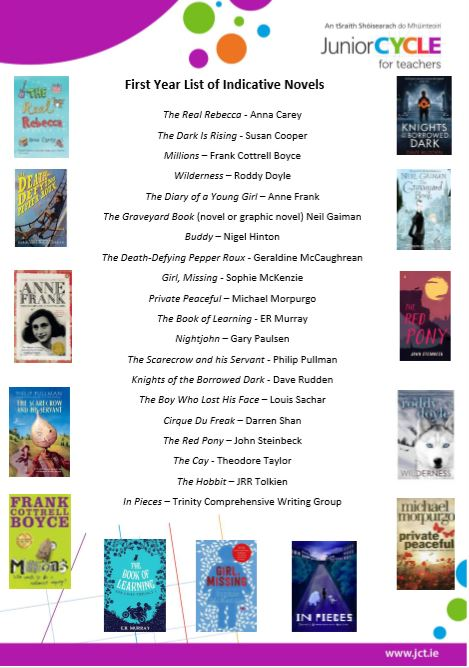 Indicative List of First Year Novels