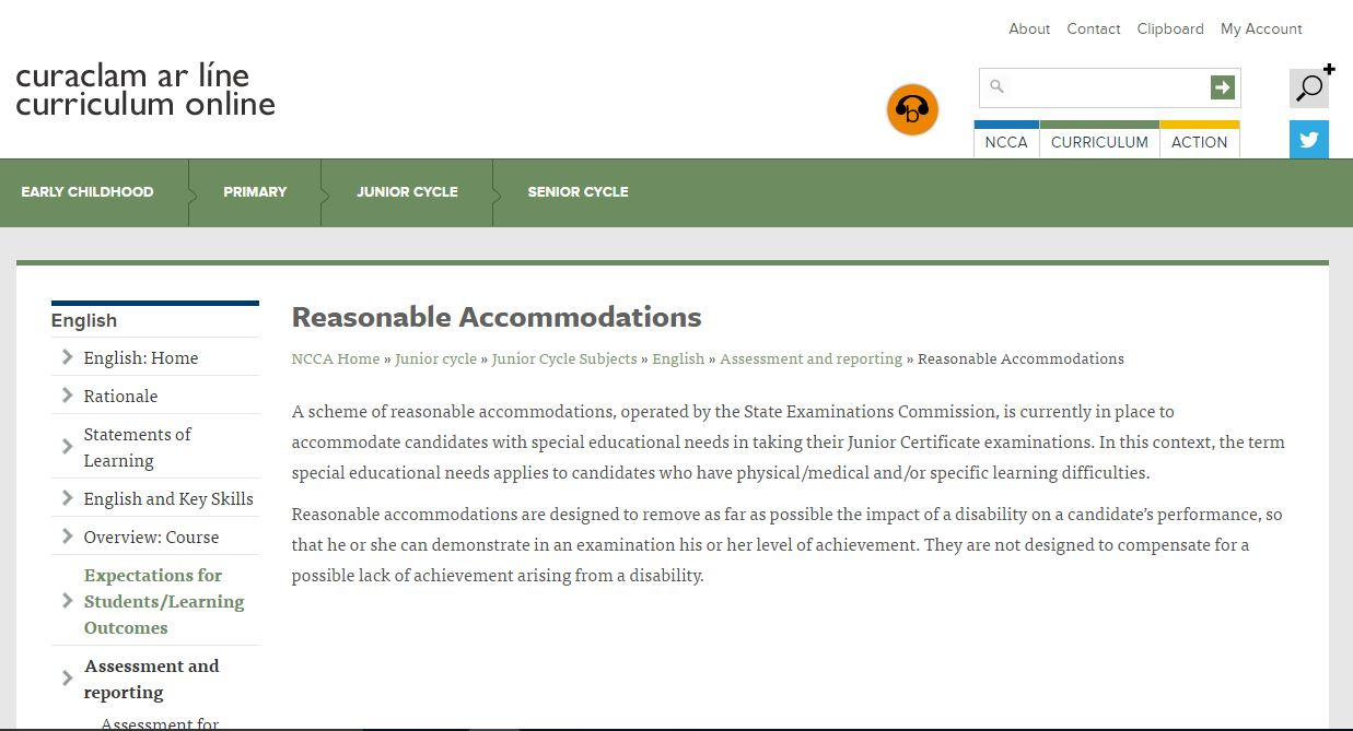 Reasonable Accommodations