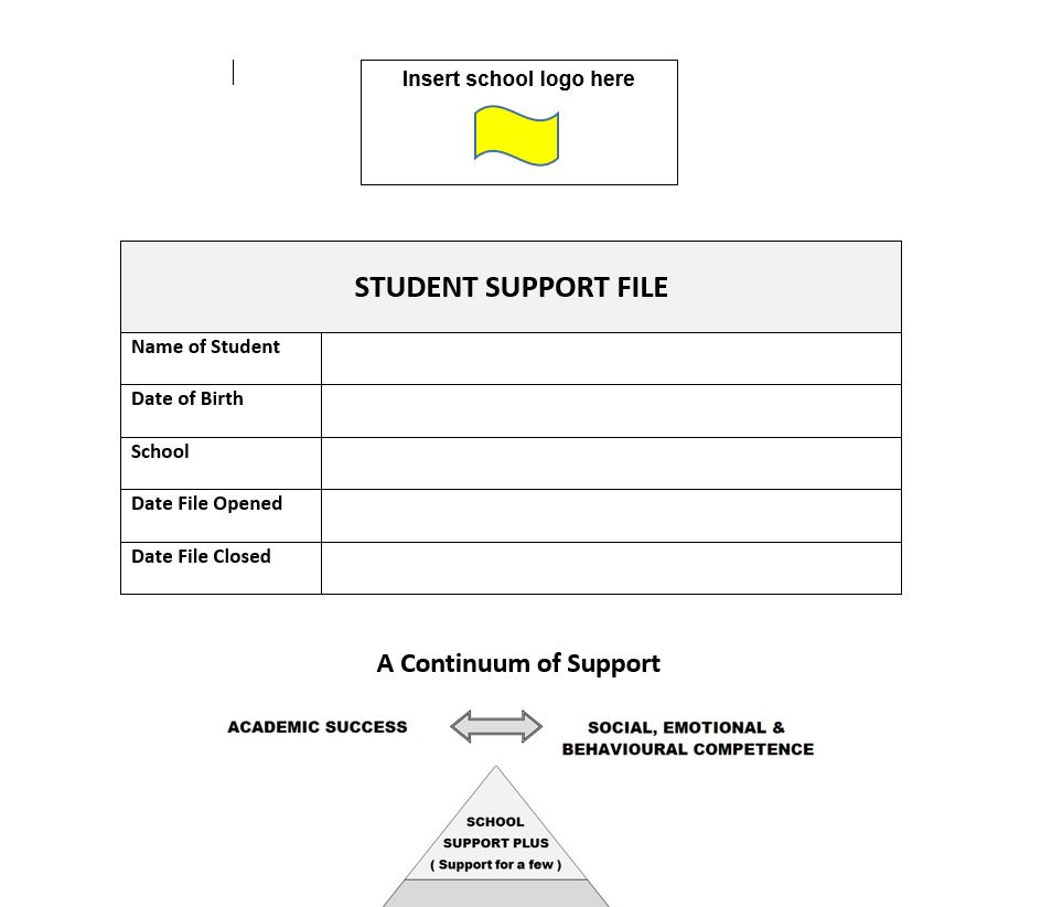 Student Support File