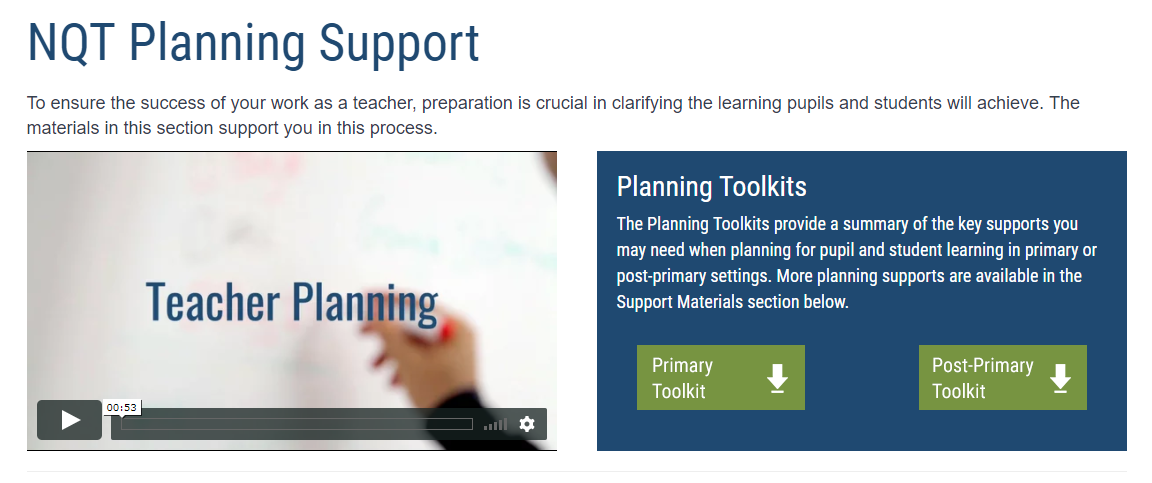 Planning Templates - Special School