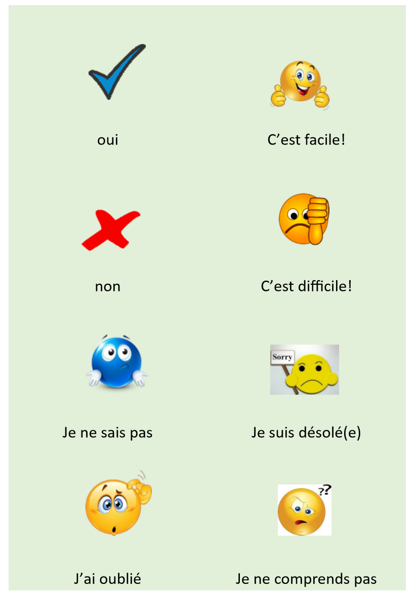 Classroom language flashcards French image