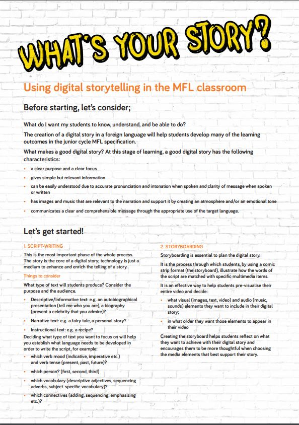 Digital Storytelling in the MFL Classroom