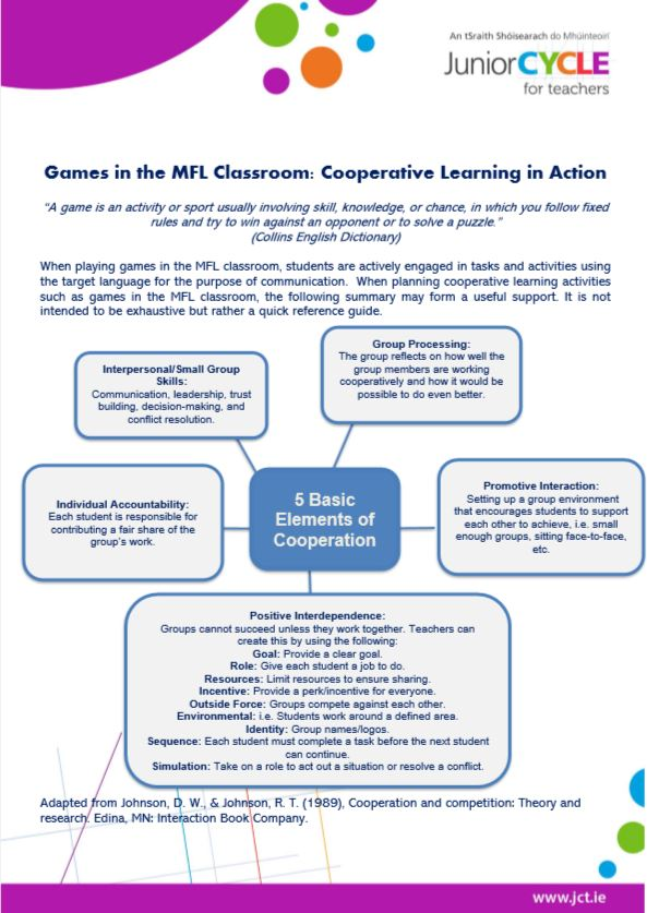 Games in the MFL Classroom Booklet