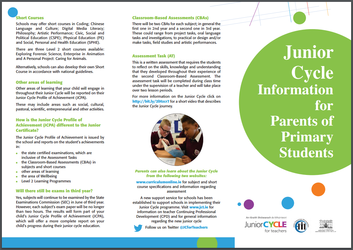 JCT Primary Parents Leaflet