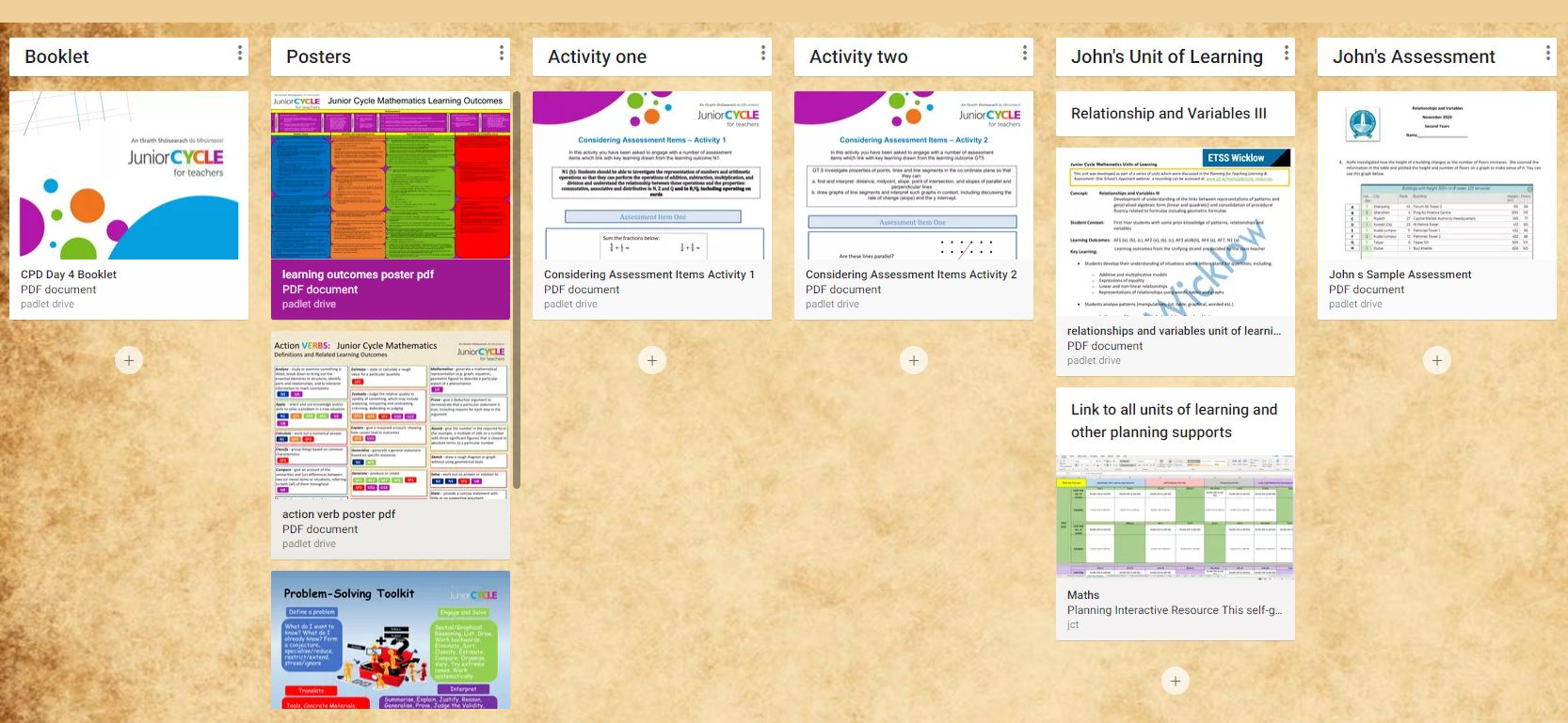 Resources Padlet