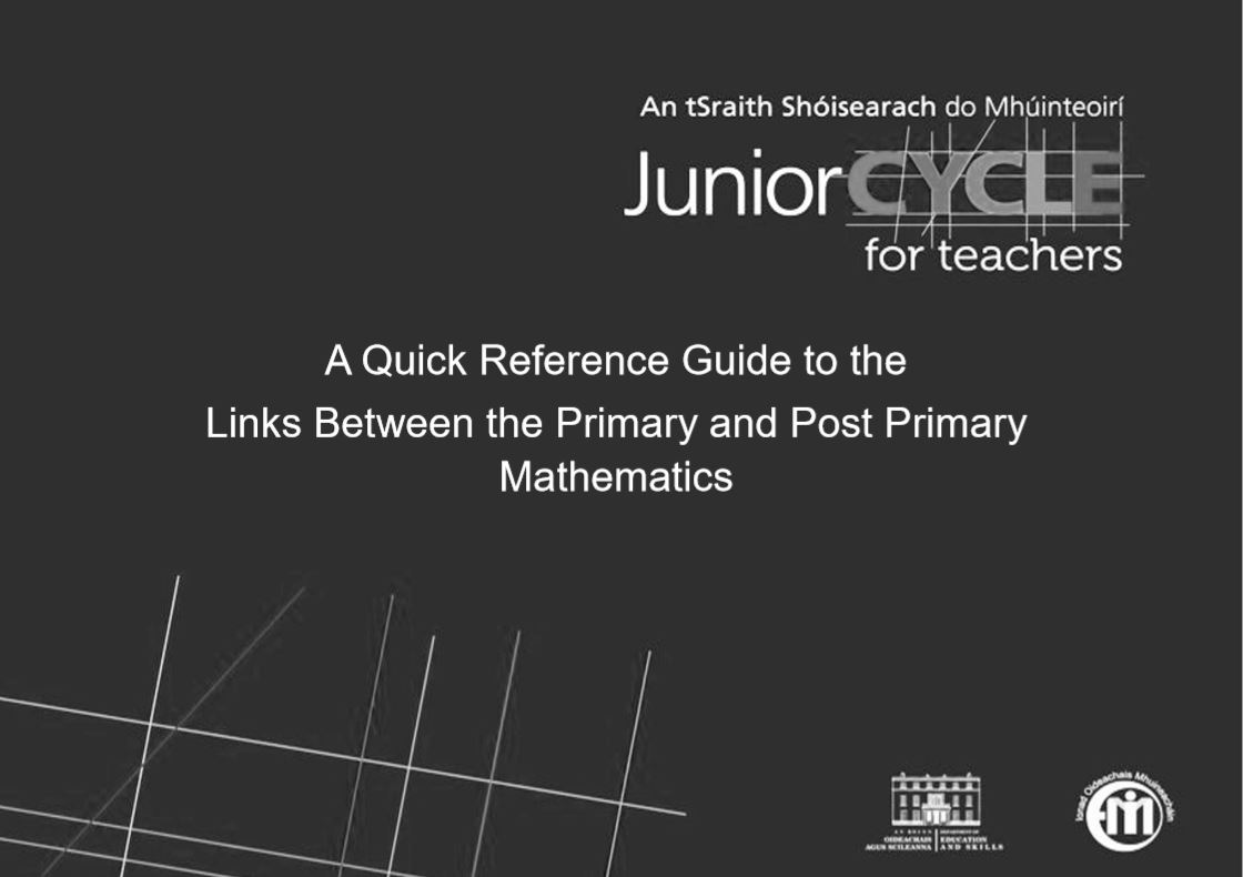 Primary Curriculum Quick Reference Guide (Black and White)
