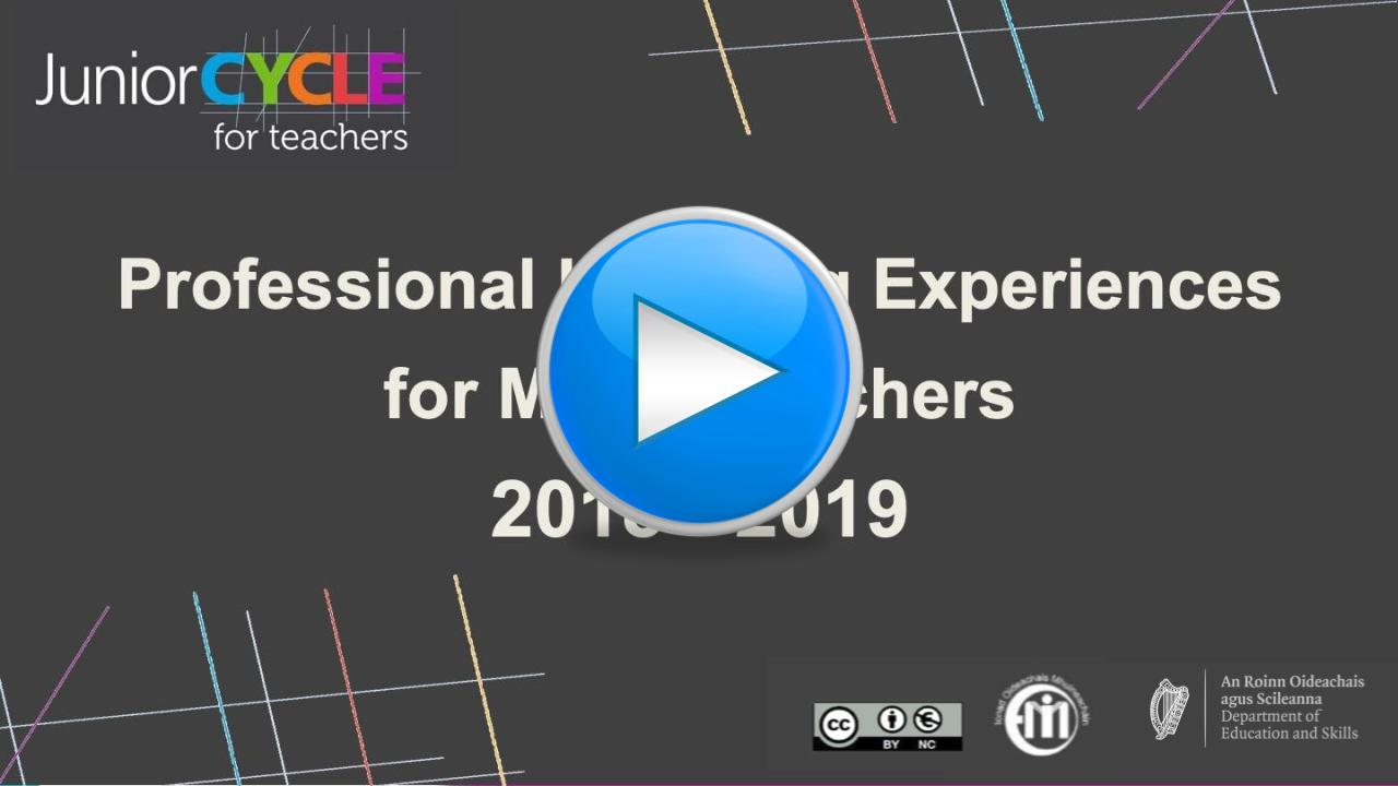 Professional Learning Experiences 2018-2019 Presentation