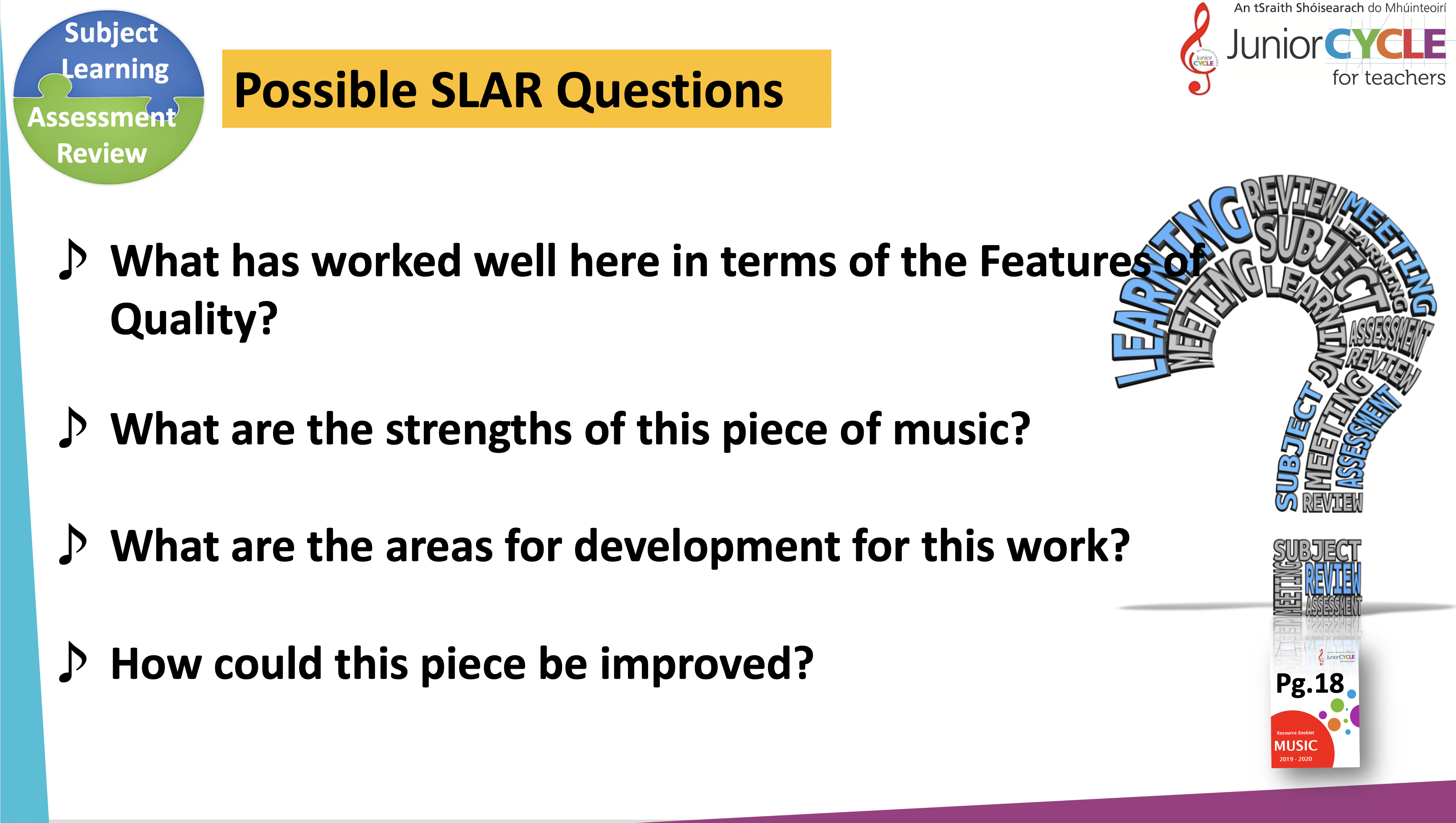 Possible Questions for SLAR Meeting