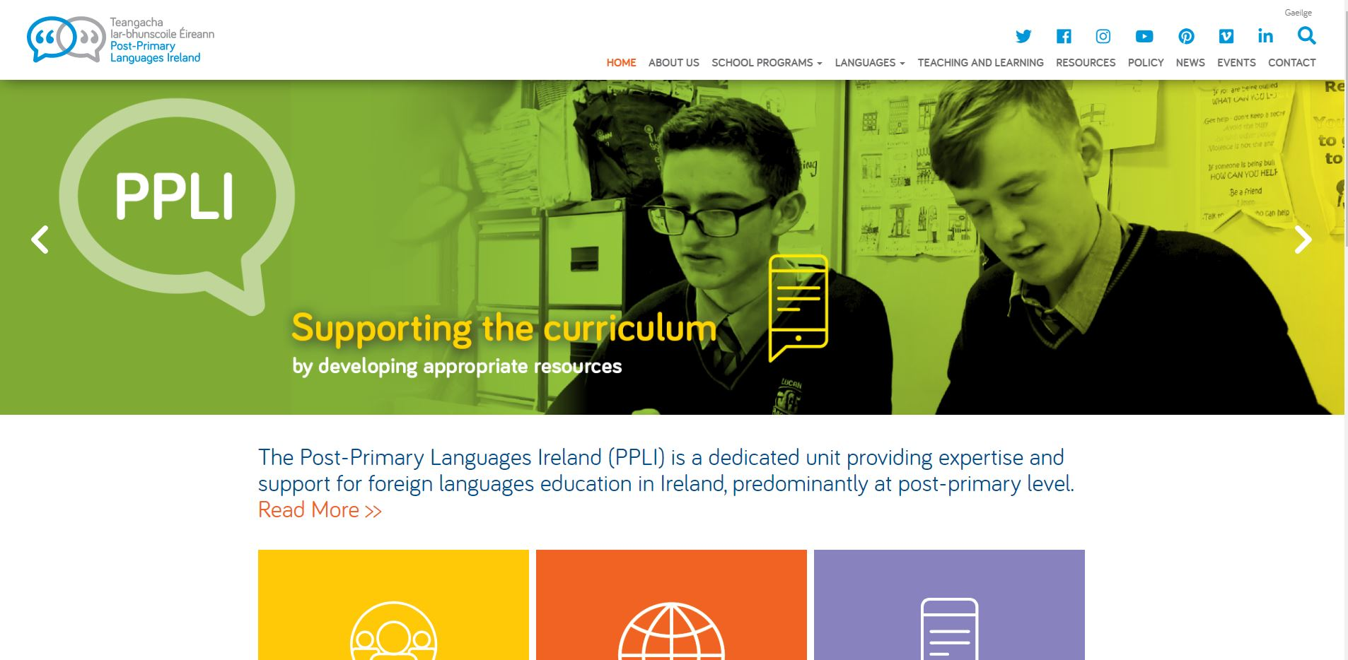 Post-Primary Languages Ireland