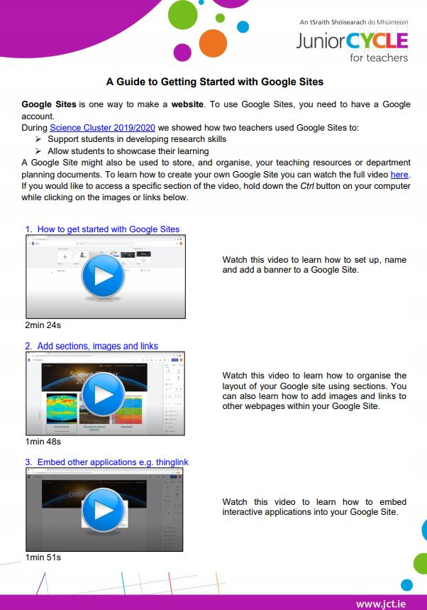 A Guide to Getting Started with Google Sites