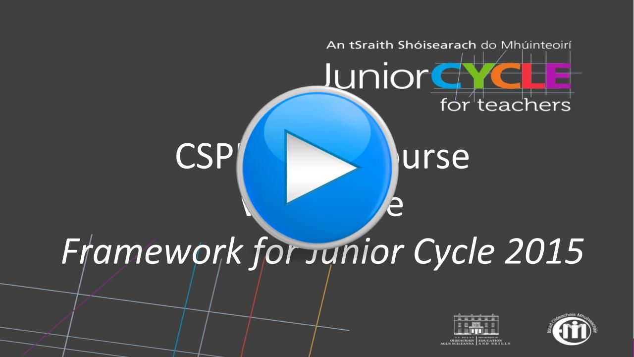 CSPE Short Course within the Framework for Junior Cycle 2015