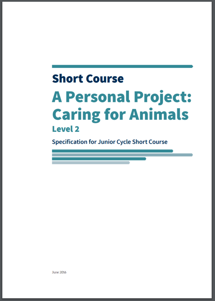 A Personal Project: Caring for Animals