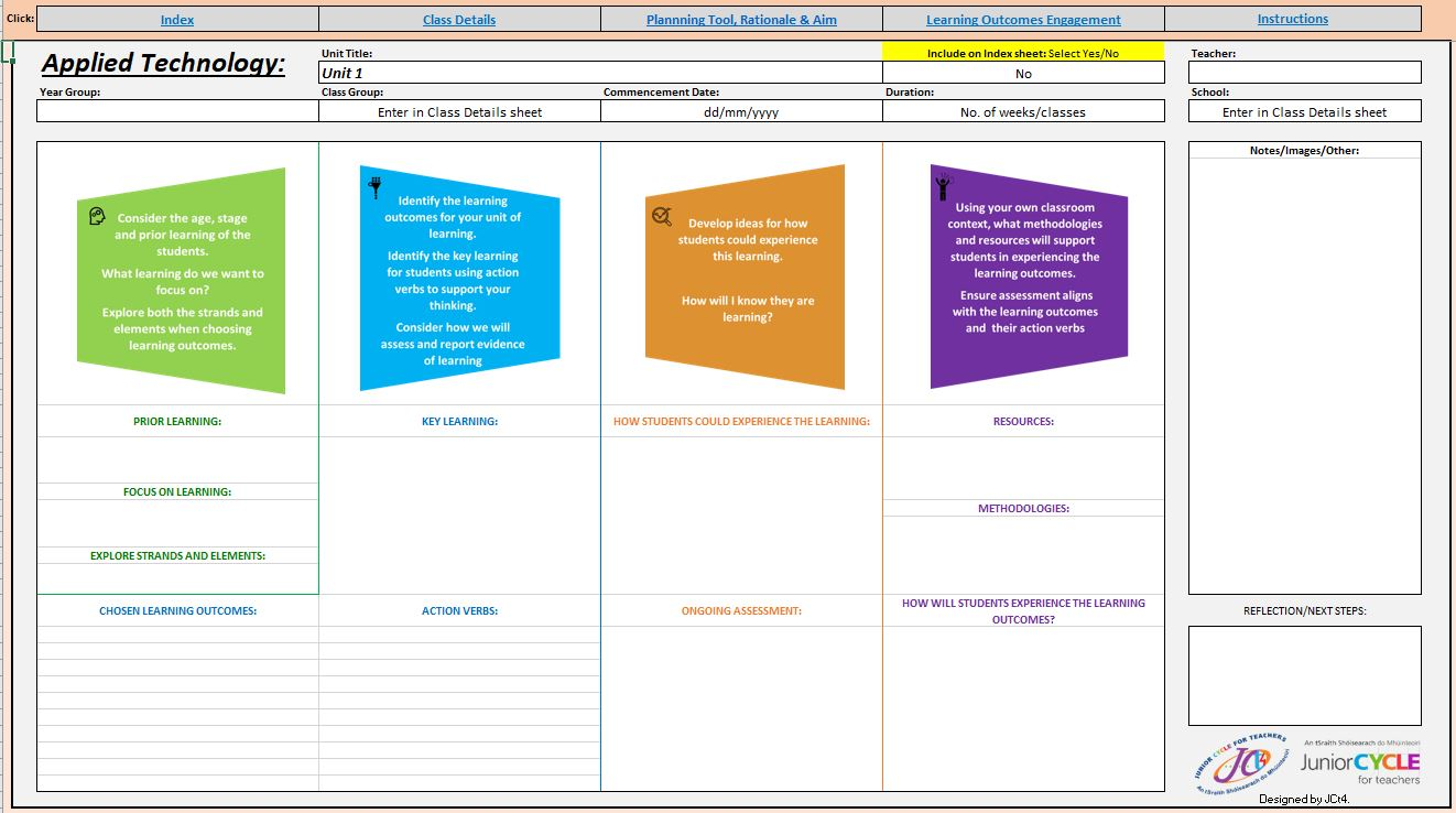 Applied Technology Excel Planner