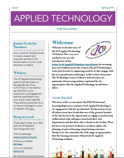 Applied Technology Newsletter Spring 2019