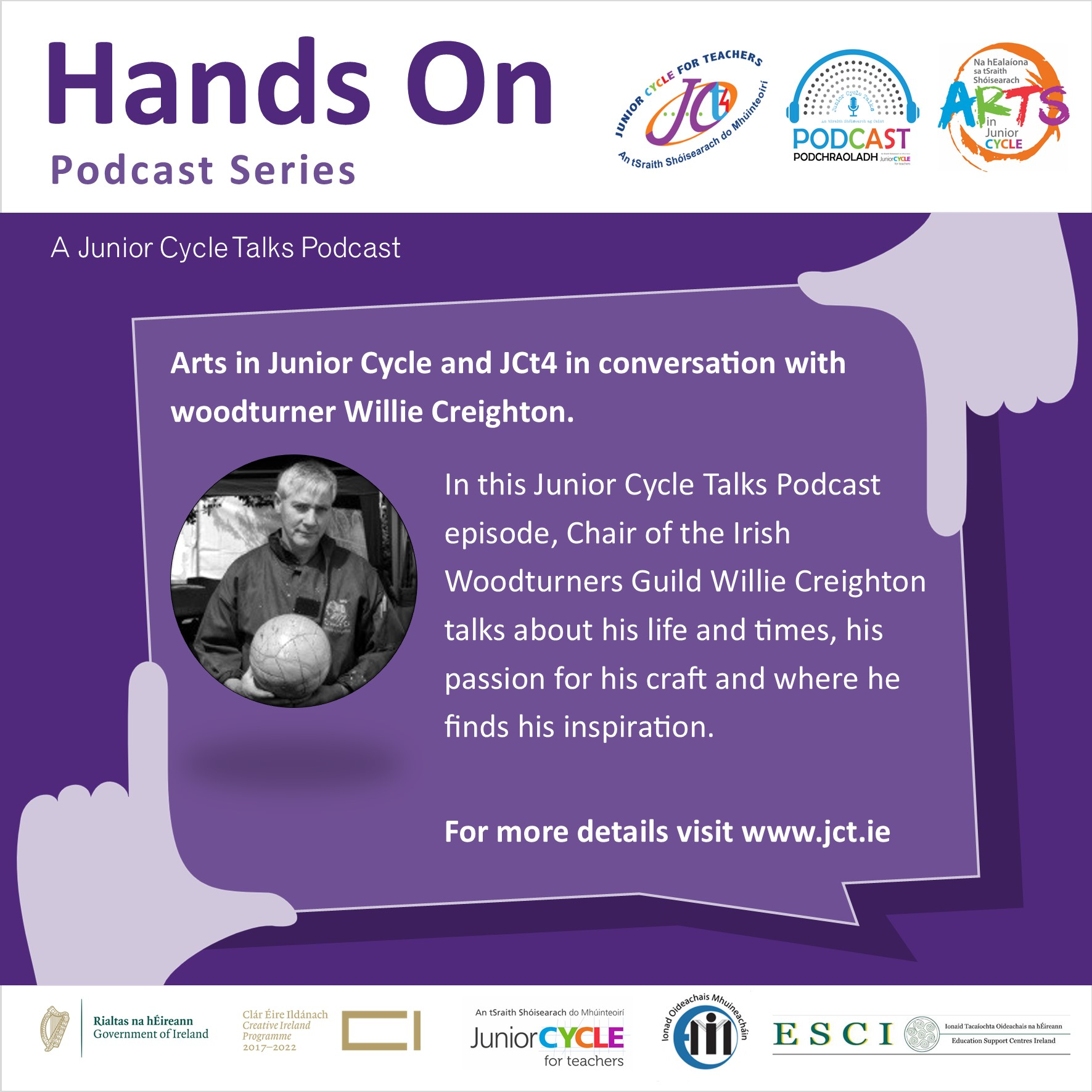 Arts in Junior Cycle and JCt4 in Conversation with Woodturner Willie Creighton