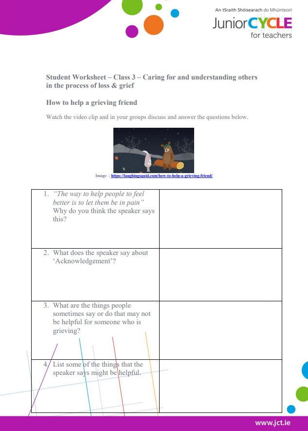 Week 3 Student Worksheet - Caring for Others