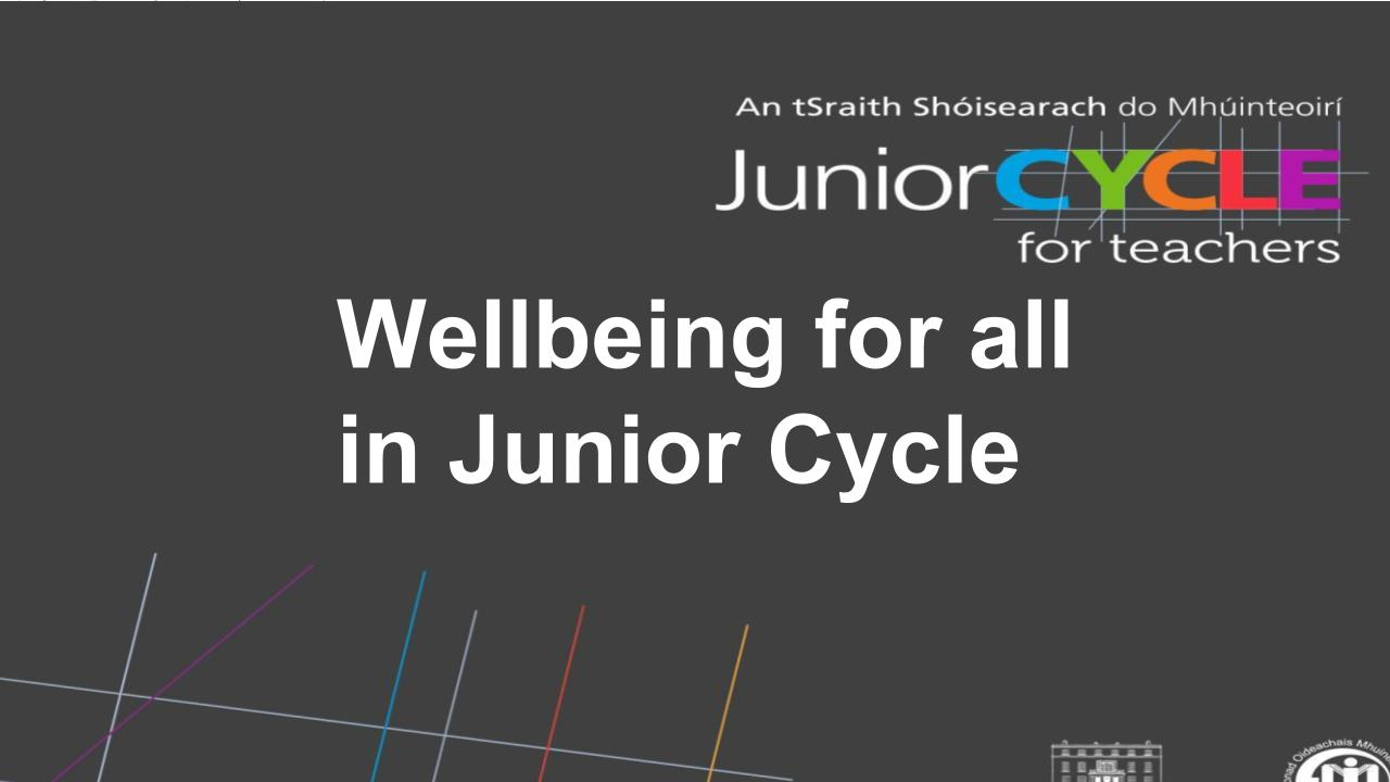 Wellbeing for All in Junior Cycle